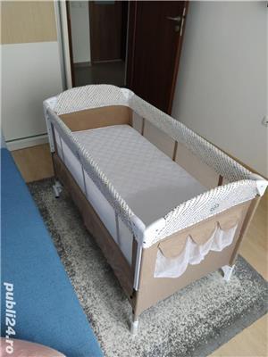 Patut pliabil Chipolino Merida + Saltea pentru copii Cocos Confort II - imagine 3