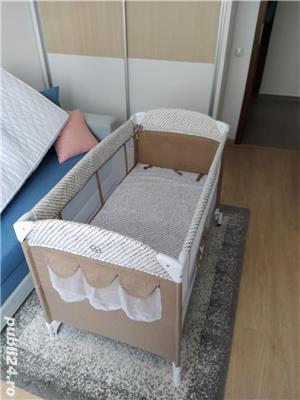 Patut pliabil Chipolino Merida + Saltea pentru copii Cocos Confort II - imagine 4
