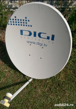 Antena Tv satelit (DIGI) si receiver 2aparate Tv. - imagine 1