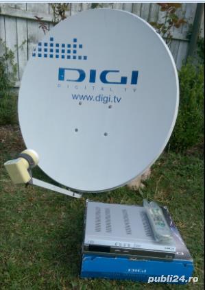Antena Tv satelit (DIGI) si receiver 2aparate Tv. - imagine 2