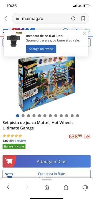 Set pista de joaca Mattel, Hot Wheels Ultimate Garage - imagine 3
