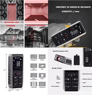 Dispozitiv Masura laser digital 50M Digital deko cu unghi BOLOBOC - imagine 2