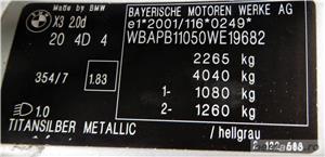 BMW X3 / 2.0 DIESEL -, CASH / RATE FIXE SI EGALE / LIVRARE GRATUITA  / GARANTIE / BUY-BACK - imagine 9