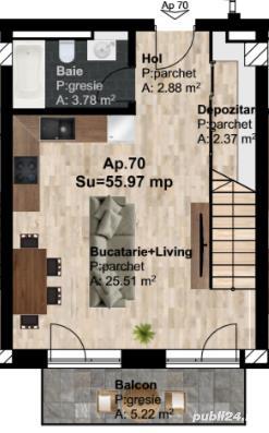 Apartament pe 2 nivele imobil nou,Traian Vuia 17 - imagine 3