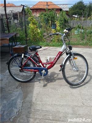 vînd bicicletă cu motor electric aluminiu Germană  - imagine 2