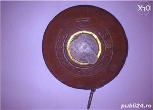Ruleta germana cu banda metalica invelita in piele - imagine 2