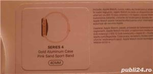 APPLE Watch Series 4 40mm Gold Aluminium Case, Pink Sand Sport Band - imagine 3