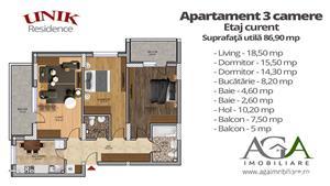Apartament 3 camere + Terasa 28 mp - Oferta LIMITATA - 6 min Metrou Berceni - imagine 1