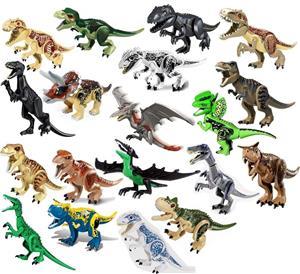 Dinozaur urias tip Lego de 30 cm: Camouflage Carnotaurus - imagine 2