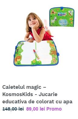 Covorasul Magic KosmosKids - Jucarie educativa de colorat cu apa - imagine 5