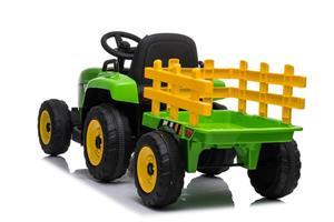 Tractor electric cu remorca pentru copii BLOW TRUCK (MX-611) Verde - imagine 2