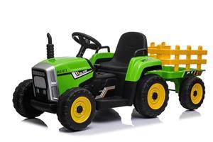 Tractor electric cu remorca pentru copii BLOW TRUCK (MX-611) Verde - imagine 5