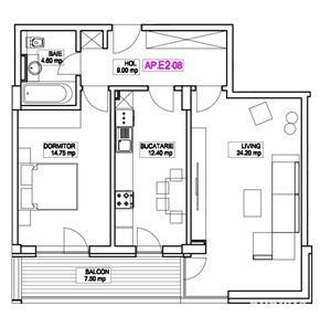 Apartament 2 camere - Finalizare Decembrie 2020 - Metrou Nicolae Teclu - imagine 3