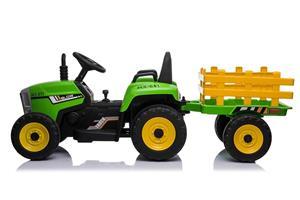 Tractor electric cu remorca pentru copii BLOW TRUCK (MX-611) Verde - imagine 1