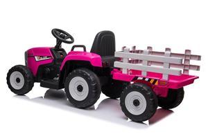 Tractor electric cu remorca pentru copii BLOW TRUCK (MX-611) Roz - imagine 4