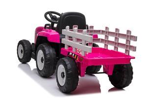 Tractor electric cu remorca pentru copii BLOW TRUCK (MX-611) Roz - imagine 5