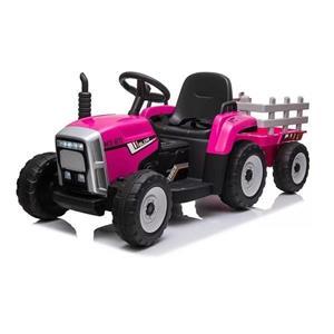 Tractor electric cu remorca pentru copii BLOW TRUCK (MX-611) Roz - imagine 1