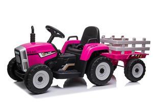 Tractor electric cu remorca pentru copii BLOW TRUCK (MX-611) Roz - imagine 2