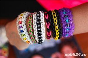 Set bratari elastice loom bands 4200 buc, 12 culori - imagine 3