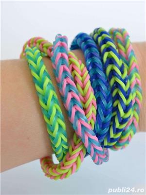Set bratari elastice loom bands 4200 buc, 12 culori - imagine 2