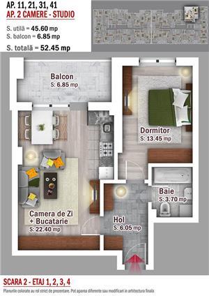 Apartament 2 camere tip studio - 1 Decembrie 1918 - imagine 3
