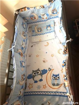 Saltea bebe + lenjerie noi gratis pătuț  - imagine 3