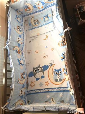Saltea bebe + lenjerie noi gratis pătuț  - imagine 2