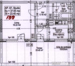 Titan Garsoniera tip STUDIO terasa 23 mp metrou N.Teclu - imagine 2