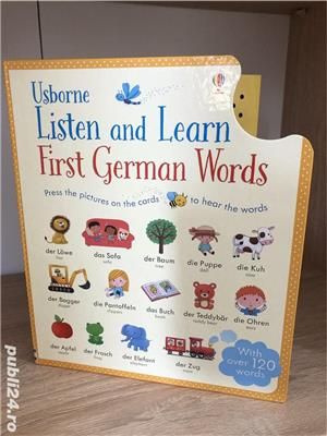 Usborne-Listen and Learn First German Words-Asculta si invata primele cuvinte in Germana - imagine 1