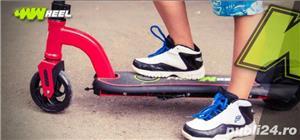 Trotineta electrica pentru copii Racing rosie, Noua Garantie 24 Luni, Viteza 15 kmh Autonomie 12 km - imagine 3
