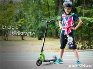 Trotineta electrica pentru copii Racing rosie, Noua Garantie 24 Luni, Viteza 15 kmh Autonomie 12 km - imagine 4