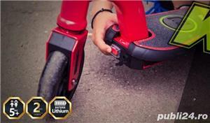 Trotineta electrica pentru copii Racing rosie, Noua Garantie 24 Luni, Viteza 15 kmh Autonomie 12 km - imagine 5