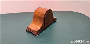 Ceas de semineu art deco din lemn cu 3 chei anii 30  - imagine 3