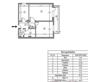 Vand apartament 2 camere, confort 1 ,decomandat in Ploiesti - acceptam Prima Casa/Noua Casa - imagine 1