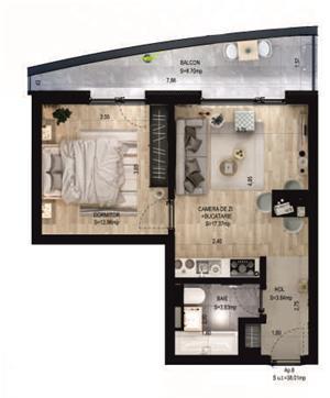 APARTAMENT 2 camere - Areni - Ansamblu Rezidential AVANERA - imagine 2