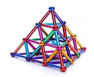 Joc- 36 de bare magnetice si 27 de bile metalice metalice - imagine 3