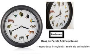 Ceas de Perete Animals Sound - imagine 1