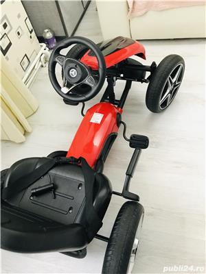 Kart cu pedale și roti din cauciuc - imagine 3