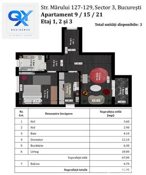 Titan - Nicolae Grigorescu, Apartament 2 camere Tip A - Bloc nou. Discount 6.500 Euro - imagine 2