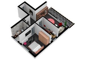 Titan - Nicolae Grigorescu, Apartament 2 camere Tip A - Bloc nou. Discount 6.500 Euro - imagine 4