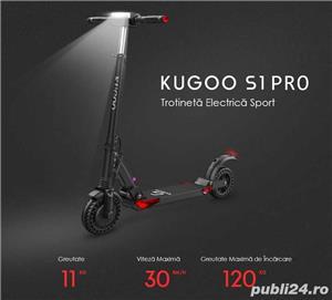 Trotineta electrica Kugoo S1 Pro-Motor avansat 350 w, 3 trepte viteza, autonom 30 km, noi-sigilate - imagine 1
