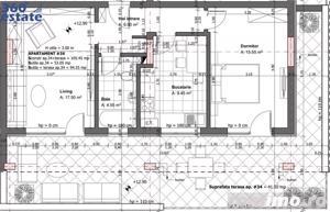 Vand Ap. 2 Cam. cu Terasa de 42 mp | DEOSEBIT | ZONA BUNA - imagine 1