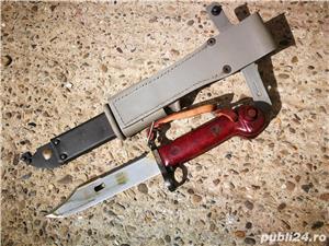Baioneta Militara Romaneasca Kalashnikov, AKM, vanatoare, AK47,pescuit - imagine 4