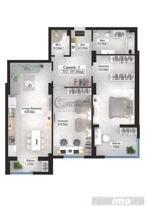 Apartament tip Premium, 3 camere, 107.3mp - imagine 1