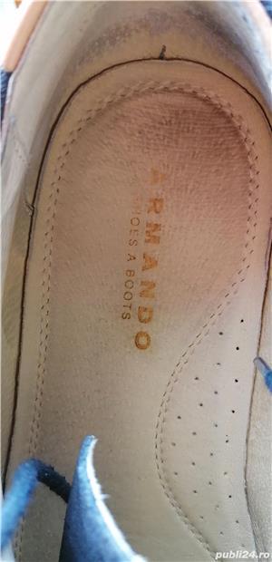 pantofi Armando din piele intoarsa, marimea 42, stare foarte buna. - imagine 4