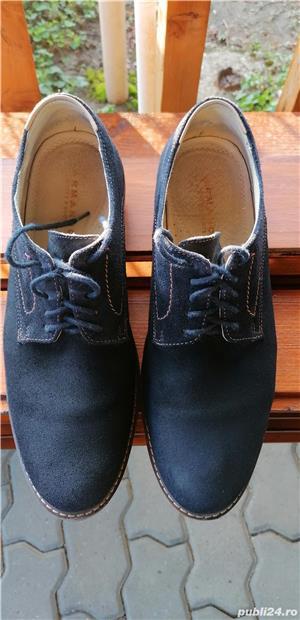 pantofi Armando din piele intoarsa, marimea 42, stare foarte buna. - imagine 2