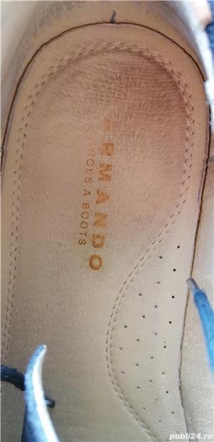 pantofi Armando din piele intoarsa, marimea 42, stare foarte buna. - imagine 5