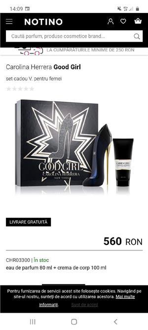 Set apă de parfum +Crema de corp Carolina Herrera  - imagine 2