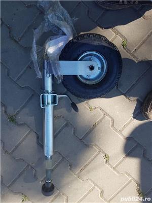 roata sprijin remorca platformă camper foarte robusta si rezistenta cu camera aer roata - imagine 10