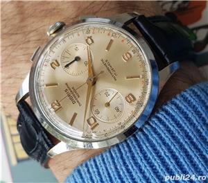 DIONIS ceas cronograf rar, cal elvetian Landeron 248 , 17 rubine - imagine 2